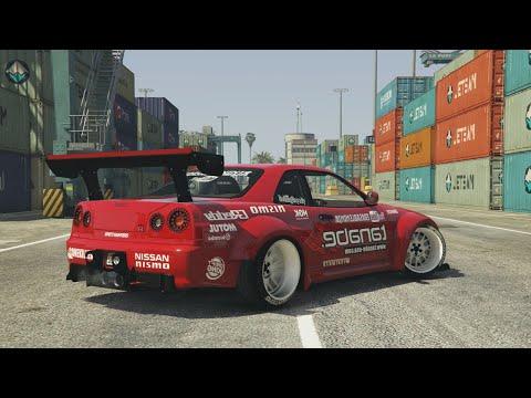 GTA 5 - NISSAN GTR SKYLINE DRIFT MONTAGE! (Port of Los Santos Gymkhana)
