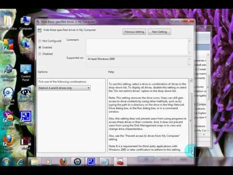 How To Hide Sytem Reserve Drive In Windows 7
