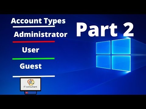 create accounts in window environment