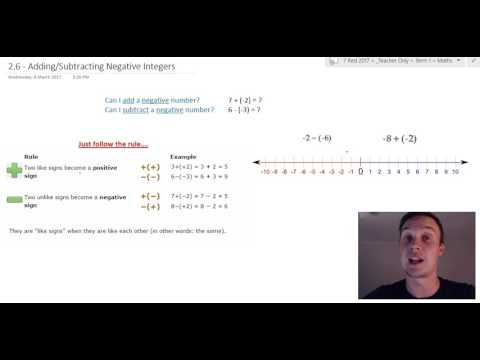 Adding and Subtracting Negative Integers