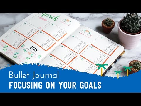 PLAN WITH ME - Bullet Journal Setup to Focus On Your Goals | Stationery Island