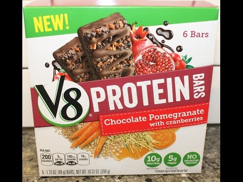 V8 Protein Bars: Chocolate Pomegranate With Cranberries Review
