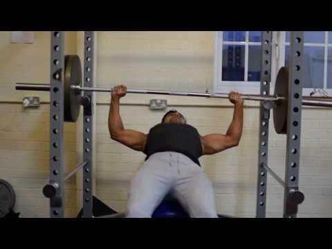 Upper chest, incline bench press