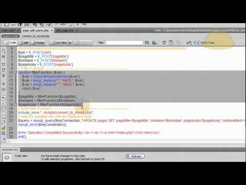 Part 8  How to Build PHP and MySQL Custom CMS Website Software