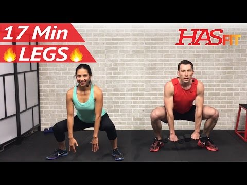 17 Min Home Leg Workout Routine - Legs Thighs Buttocks Workout for Women & Men Lower Body Exercises
