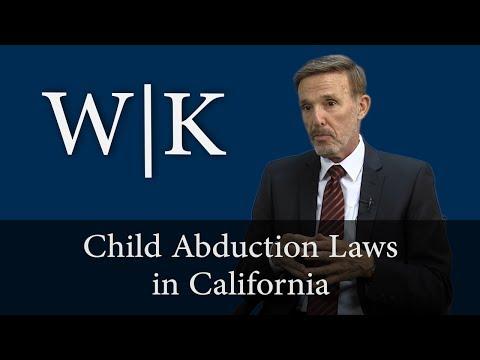 Child Abduction Laws in California