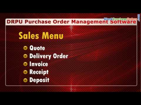 Purchase Order Management Software: Manage Sales and Purchase Order Details