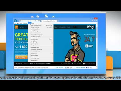 How to clear the cache in Internet Explorer® 10 in Windows® 8