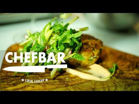 Shaun Desaulniers' ChefBar Test Kitchen - Salmon Crab Cake