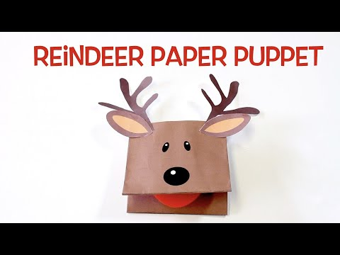 How to Make a Reindeer Paper Puppet