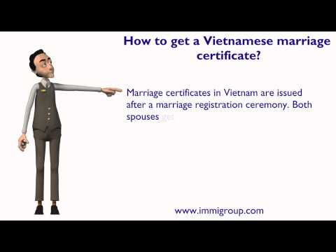 How to get a Vietnamese marriage certificate?