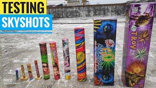 10 Different types of skyshots testing 2019/Crackers testing 2019/Diwali stash testing 2019