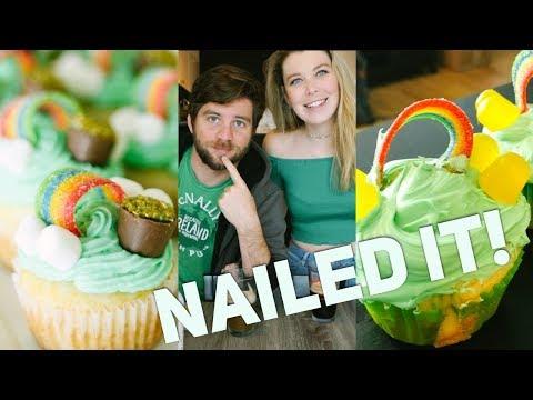 VEGAN NAILED IT - St. Patrick's Day Cupcakes