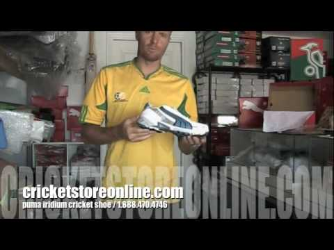 puma iridium rubber sole cricket shoe