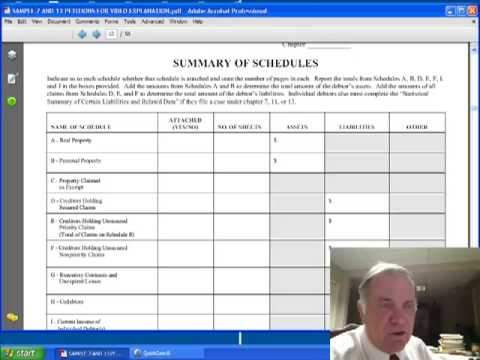 #3 of 10, Sample Petitions For Missouri Chapter 7 or 13 Bankruptcy Filing