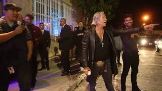 Mickey Rourke Plays Baseball Outside Mr. Chow