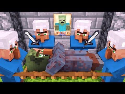 Zombie vs Villager Life 2 - Alien Being Minecraft Animation