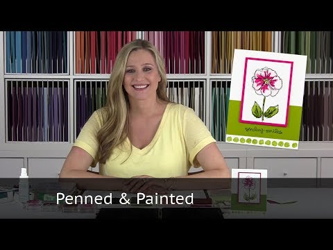 Penned & Painted Flower Card - Using Stampin Up