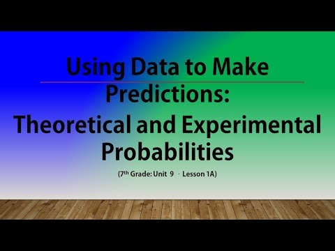 Using Data to Make Predictions: Theoretical & Experimental Probabilities (7th Grade Unit 9 Lesson 1)