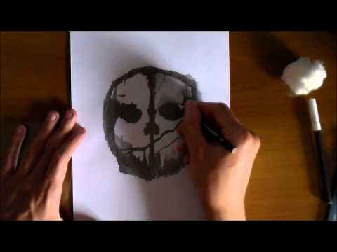 COD: Ghosts Logo/Mask |  Drawing | Survival | Time Lapse | By Mike.