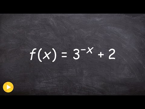 Graphing an exponential function using transformations