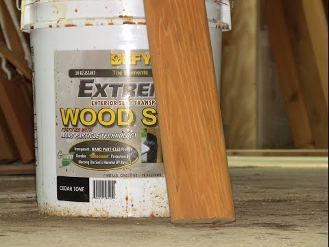 Sustainable Construction - Red Cedar & Defy Extreme Wood Stain - GreenCasaMaryland.org