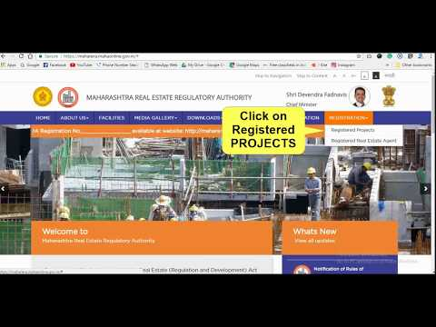 How to Check REGISTERED PROJECTS on MAHARERA WEBSITE