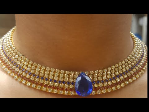 (DIY)HOW TO MAKE PARTY WEAR PAPER NECKLACE//PAPER JEWELLERY//THE STUNNING HANDMADE'S..