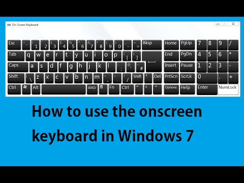 How to use the onscreen keyboard in Windows 7 | If Computer Keyboard not working solved