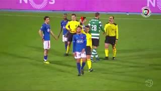 Sasso expulso após o apito final (Belenenses - Sporting)