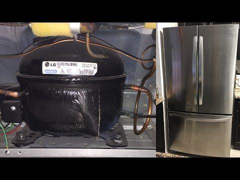 Refrigerator not cooling working LG French 3 door bottom freezer fridge loud compressor noise FIX