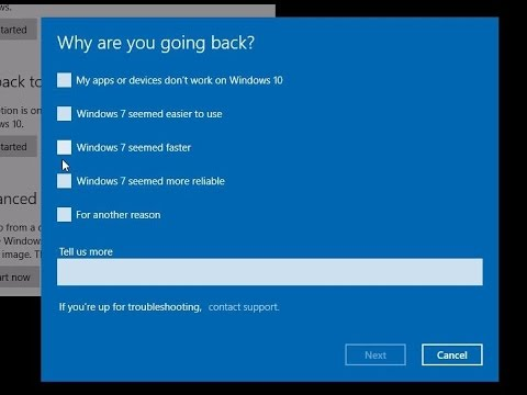 Downgrading from Windows 10 to Windows 7 / Windows 8