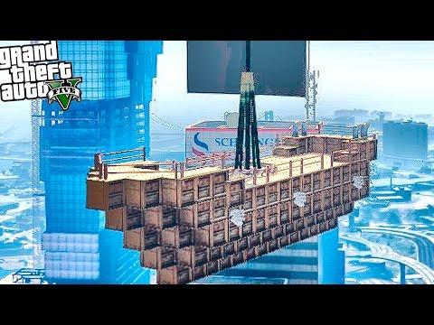 GTA 5 Моды: Карта - КОРАБЛЬ ИЗ МАЙНКРАФТА