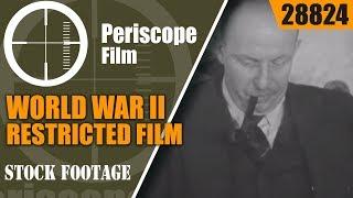 """WORLD WAR II RESTRICTED FILM GERMAN INDUSTRIAL MACHINE """"BEHIND NAZI GUNS""""  28824"""