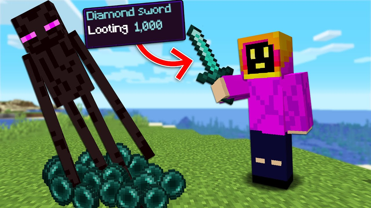 Minecraft Hardcore But, I Have Looting 1,000!
