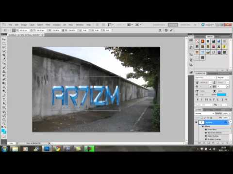 How to Make Perspective Text in Photoshop