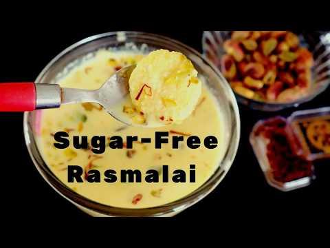 Sugar Free Rasmalai in Hindi- Weight Watchers Rasmalai - Diabetic Rasmalai