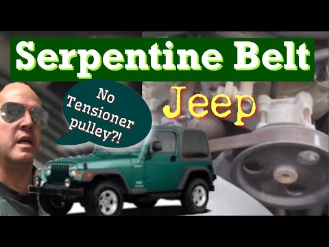 Changing Serpentine Belt Jeep 1995 - 2002 Wrangler