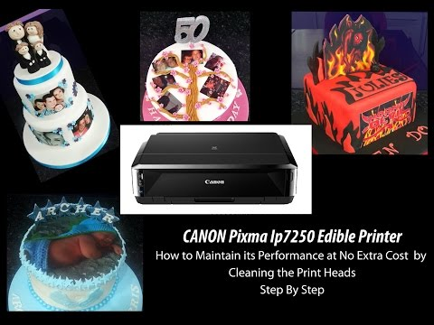 Canon Pixma Ip7250 Series - How to Clean your Edible Image Printer