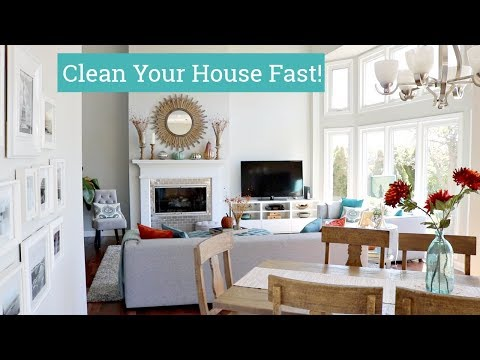 How to Clean Your House Fast   Speed Cleaning Tips