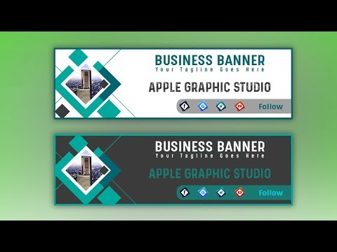 How To Design a Web Banner for Business - Photoshop Tutorial