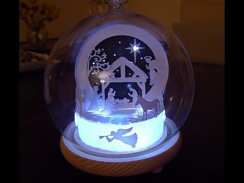 Making an LED lit snow globe  Nativity Christmas decoration