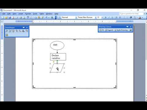 How to Draw Flow Chart in MS Word to Find Sum of Two Numbers
