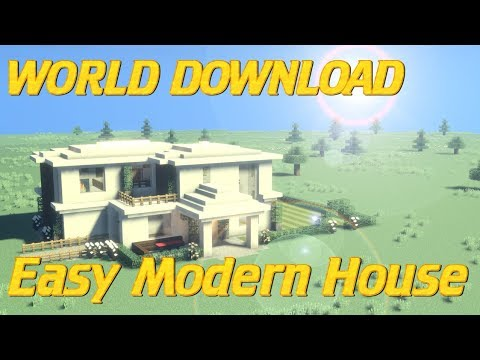 How to Build a Modern house In Minecraft WITH WORLD DOWNLOAD | Minecraft house Tutorial