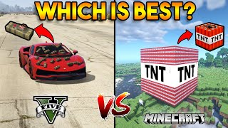 GTA 5 STICKY BOMB VS MINECRAFT TNT : WHICH IS BEST?
