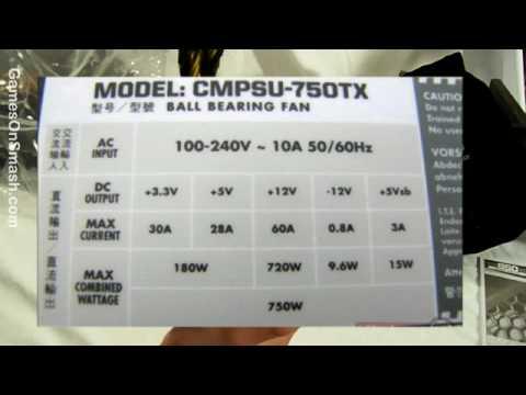 Corsair TX750W - 750Watt Power Supply Unboxing