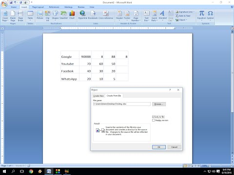 How to Insert Excel Sheet In MS Word (Edit & work Excel file in Word)