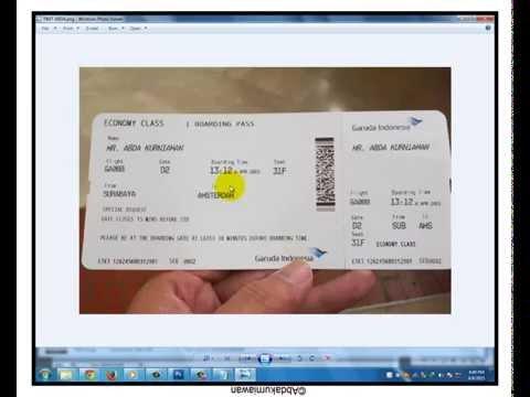Photoshop Tutorial - Manipulation Garuda Indonesia flight ticket