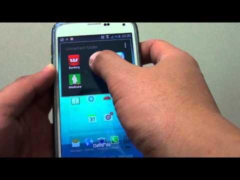 Samsung Galaxy S5: How to Re-Arrange Apps Inside Home Screen Folder