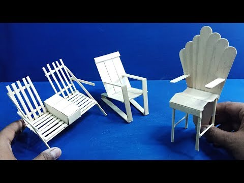 7 Easy & Quick Popsicle Miniature Furniture | Chairs & Tables #5